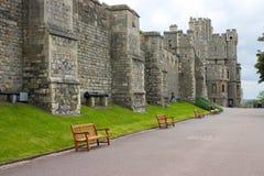 Pareti del castello di Windsor Fotografia Stock Libera da Diritti