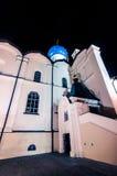 Pareti della cattedrale nella notte Fotografia Stock