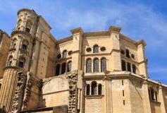 Pareti della chiesa antica a Malaga Fotografia Stock