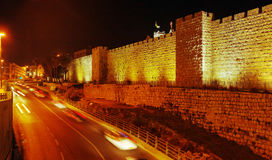 Pareti della città antica, Gerusalemme, Israele immagine stock libera da diritti