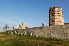 Pareti della città di Costantinopoli Fotografia Stock Libera da Diritti