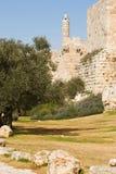 Pareti della città di Gerusalemme Immagini Stock
