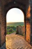 Pareti della città di Monteriggioni Fotografia Stock
