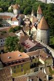 Pareti della città di Tallinn Estonia Fotografia Stock