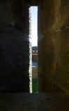 Pareti della fortezza a Carcassonne Francia Immagine Stock