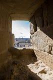 Pareti della fortezza a Carcassonne Francia Immagini Stock