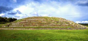 Pareti della fortezza di Sacsayhuaman, in Cusco, il Perù immagine stock