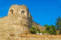 Pareti della fortezza di Skopje immagini stock libere da diritti
