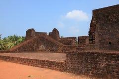 Pareti della fortificazione di Bekal fotografia stock libera da diritti