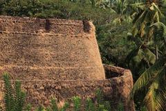 Pareti della fortificazione di Bekal immagine stock