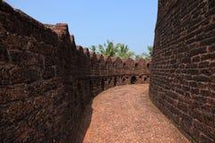 Pareti della fortificazione di Bekal immagini stock libere da diritti