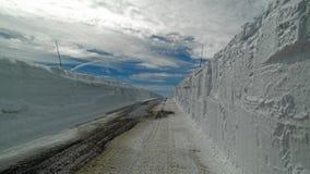 Pareti della neve Immagini Stock