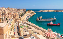 Pareti di La Valletta fotografia stock libera da diritti