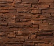 Pareti di muratura del mattone e della pietra Fotografie Stock
