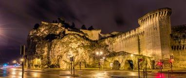 Pareti difensive di Avignone, un sito di eredità dell'Unesco Fotografia Stock Libera da Diritti