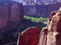 Pareti e pavimento di canyon Immagine Stock Libera da Diritti