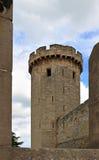 Pareti e torri del castello Fotografia Stock Libera da Diritti