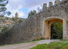 Pareti interne della città di Alarcon a Cuenca immagini stock libere da diritti