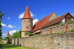 Pareti medioevali della città Immagine Stock