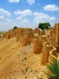 Pareti medioevali di Jaisalmer, Ragiastan, India fotografia stock libera da diritti