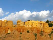 Pareti medioevali di Jaisalmer, Ragiastan, India fotografie stock libere da diritti
