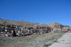 Pareti nella fortezza di Erebuni, Yerevan, Armenia Immagine Stock