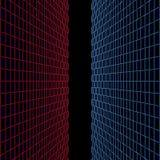 Pareti rosse e blu di vetro Fotografia Stock Libera da Diritti