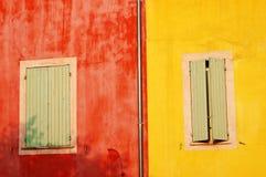 Pareti variopinte del Roussillon, Francia Immagine Stock