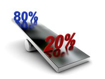 Pareto 80 - 20 rule Stock Photography