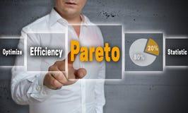 Pareto-Konzepthintergrund wird vom Mann gezeigt Lizenzfreie Stockbilder