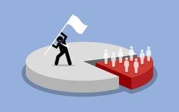 Pareto principewet van 80-20 regels stock illustratie