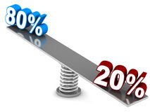 Pareto principle Royalty Free Stock Photos