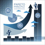 Pareto principle. Business Laws. Concept business and scientific vector illustration. Pareto principle. Concept business and scientific vector illustration Royalty Free Stock Photography