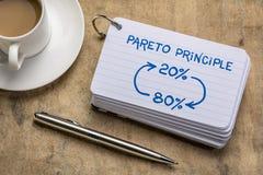 Pareto 80-20 principle concept stock images
