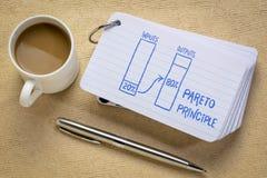 Pareto 80-20 principle concept stock image