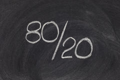 Pareto principle, eighty-twenty rule Stock Image