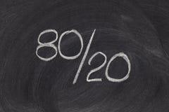 Pareto principle, eighty-twenty rule stock image