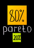 Pareto principle, eighty-twenty rule royalty free stock images