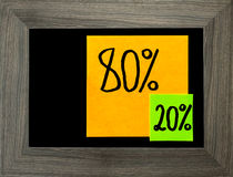 Pareto principle, eighty-twenty rule royalty free stock photos
