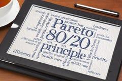 Pareto principle, eighty-twenty rule Stock Images