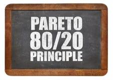 Pareto zasada, eighty-twenty reguła na blackboard fotografia royalty free