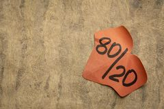 Pareto zasada lub eighty-twenty regu?a zdjęcia royalty free