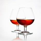 Parexponeringsglas med konjak Royaltyfri Foto