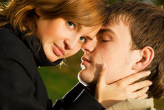 parförälskelse Arkivfoton