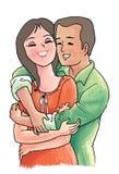 parförälskelse Royaltyfri Fotografi