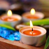 Parfümierte Kerzen Stockfoto