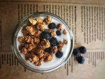 Parfait à yaourt Photographie stock libre de droits