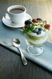 Parfait. Picture of parfait and a cup Stock Photography