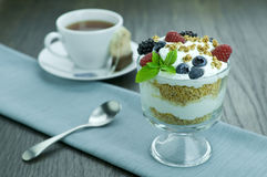 Parfait. Picture of parfait and a cup Royalty Free Stock Image