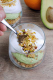 Parfait with avocado Royalty Free Stock Images